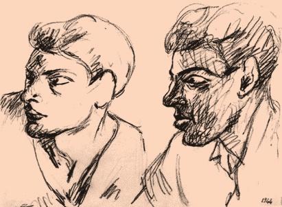 ritratto di due giovani